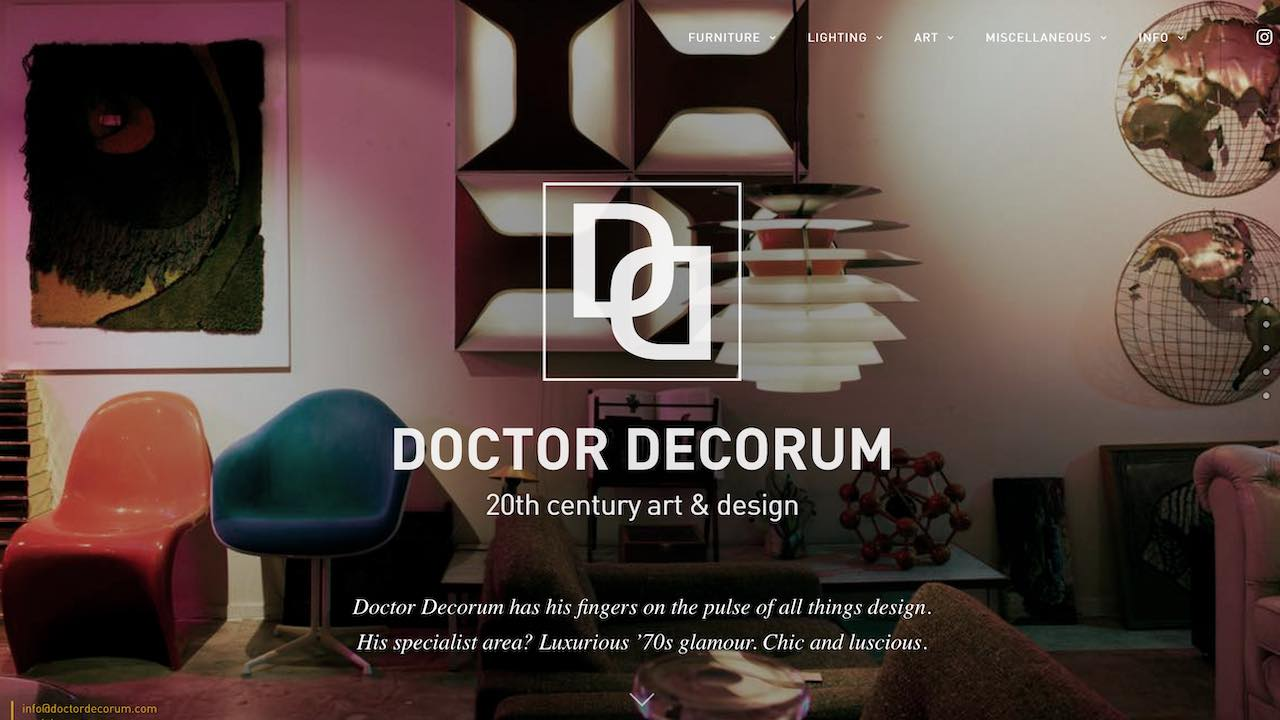 Screenhot nieuwe website Doctor Decorum